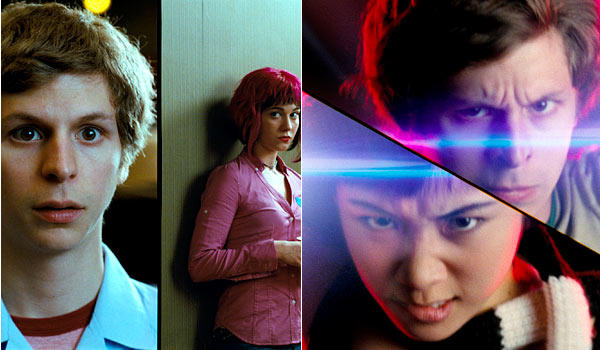 <b>Angles of the love triangle:</b> Lovable loser Scott Pilgrim (Michael Cera) gets a groupie grilfriend, Knives (Ellen Wong), whom he does genuinely care for, though she's a bit young. Then along comes Ramona (Mary Elizabeth Winstead), and Scott is thrown for an infatuated loop. He keeps going out with Knives, knowing that Ramona is his true love.<br> <br> <b>Final equation:</b> Scott and Knives make beautiful music together as they combine to take down the seventh of Ramona's evil exes, Gideon Graves (Jason Schwartzmann). But even Knives realizes that all this fighting that Scott has done has been for the love of Ramona and ends up encouraging him to follow his heart.