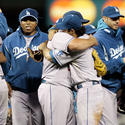 Ethier and Broxton Celebrate