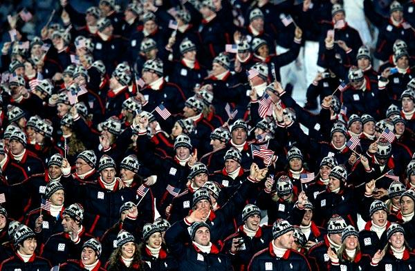 Team USA enters during the opening ceremony.