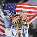 Lindsey Vonn and Julia Mancuso