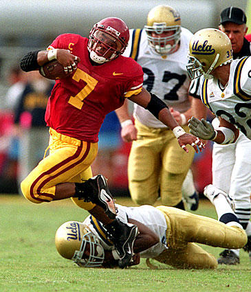 USC's Chad Morton made good on his guarantee that the Trojans would win the 1999 game. Morton rushed for 130 yards in a 17-7 defeat of UCLA that ended the Bruins' winning streak in the series at eight, the longest in the rivalry.