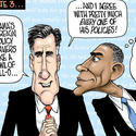 Presidential debate: Romney says 'me too' to Obama policies