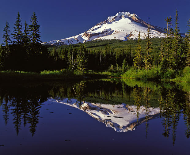 "<b>Mt. Hood</b><br> Oregon<br><br>  <b>Distance:</b> 949 one-way<br><br>  At nearly 6,000 feet, Timberline is nearly halfway up 11,239-foot Mt. Hood. Its chairlifts reach where the snow never melts. This is the land of endless winter. All year long, the Palmer Snowfield at Timberline, Mt. Hood's highest skiable terrain at 8,500 feet, remains white.<br><br>  -- Louise Tutelian<br><br>  Read more: <a href=""http://www.latimes.com/travel/la-tr-mthood-20100823,0,6329146.story"">Oregon's Mt. Hood: See, ski and tee</a>"