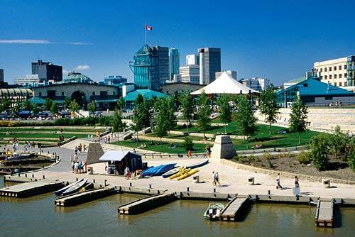 "The Forks, named because it's where the Assiniboine River merges into the Red, has been a meeting place for people for at least 6,000 years. Archaeological findings suggest prehistoric humans set up campsites here; fur traders passed through in the 18th and 19th centuries. Today, the Forks is one of Winnipeg's most popular attractions, offering shops, restaurants and events year round.<br> <br> More info: <a href=""http://www.theforks.com/"">http://www.theforks.com/</a>"