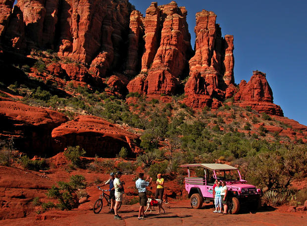 "Thrill-seekers can take a bone-rattling Jeep tour to explore the Broken Arrow Trail as it winds through sandstone monoliths in Coconino National Forest, outside Sedona. 204 N. Highway 89A, Sedona; (800) 873-3662, <a href=""http://www.pinkjeep.com"">http://www.pinkjeep.com</a>. Two-hour Broken Arrow tour, $79 for adults, $56 for children."