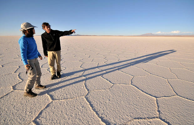 "In Bolivia's Andean high desert, Salar de Uyuni, the world's largest salt flat, stretches 7,440 square miles. <a href=""/travel/la-tr-bolivia-20130512-photos,2669,3598794.photogallery""><span style=""color: #2262CC;"">More photos...</span></a>"