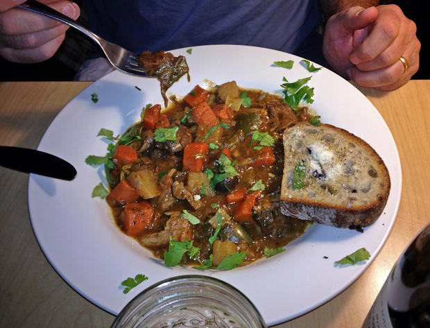Beef and pork stew at Pastels Bistro.
