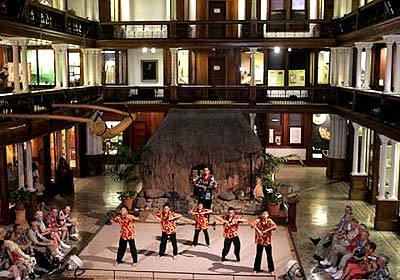 Dance school students perform traditional Hawaiian songs at the Bishop Museum in Honolulu, which traces the evolution of the music in exhibits.