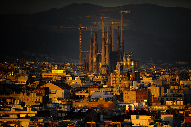 Antoni Gaudi's Sagrada Familia, center, has been in construction since the late 1800s.