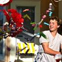 35. Brian Mogilewsky, 15, breaks a pinata during a birthday celebration in Oaxaca, Mexico