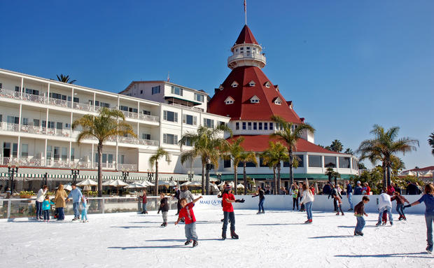 "<b>2. Hotel del Coronado</b><br> <br> The red-roofed Hotel del Coronado, which dates to  the 19th century, stands a few miles from downtown San Diego.<br> <br> Distance: 127 miles<br> <br> More info:<br> <br> • <a href=""http://travel.latimes.com/destinations/san-diego/hotels/hotel-del-coronado""><u>Hotel review</u></a><br>
