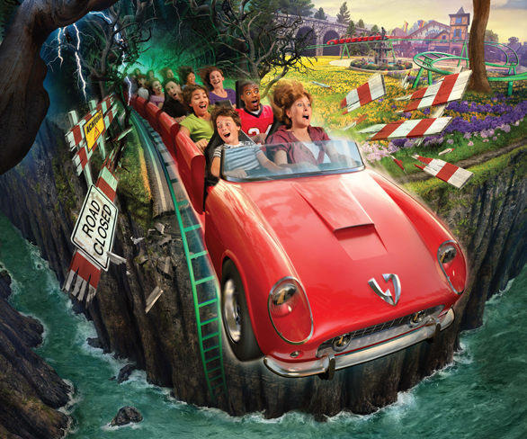 6) The Verbolten multi-launch roller coaster at Busch Gardens Williamsburg will take riders on a high-speed drive along the German autobahn before detouring through the forbidden Black Forest. The themed family coaster will feature two launch zones and an indoor section of the ride with special effects and a free-fall platform.