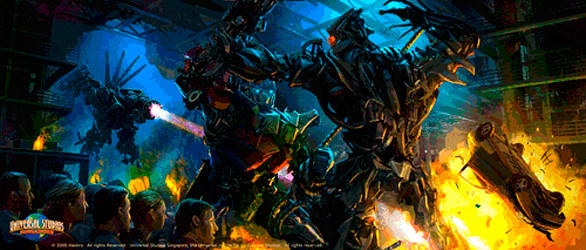 3) Universal Studios Hollywood will add a Transformers dark ride featuring 3-D high-definition footage with special effects and robotics.
