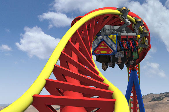 On Superman: Ultimate Flight, riders will be launched be launched skyward on the uniquely designed vertical coaster before spinning through a series of vertical twists.