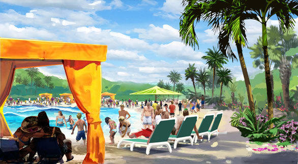 The Aquatica San Antonio water park will feature a South Seas theme and  sunbathing on sandy beaches.