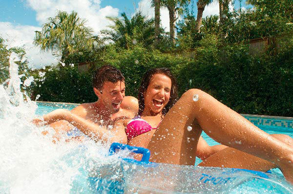 Visitors will ride inner tubes down the Loggerhead Lane lazy river at SeaWorld San Antonio.