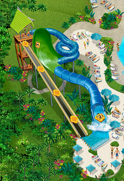 Concept art of the Walhalla Wave slide at SeaWorld San Antonio.