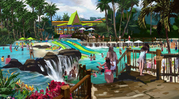 Concept art of the Whanua Waters pool at SeaWorld San Antonio.