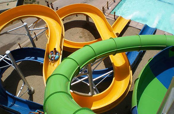 SeaWorld San Antonio will feature a pair of WhiteWater tube slides, including one that travels through a pitch-dark tunnel.