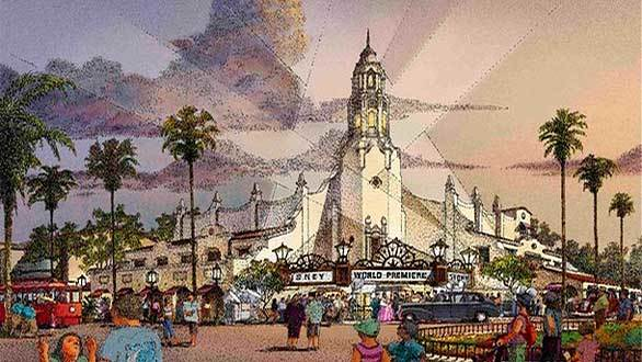 The Carthay Circle Theatre planned for Disney California Adventure's new Buena Vista Street will house an exclusive restaurant and lounge on the second floor. Plans have not yet been revealed for the theater's first floor.