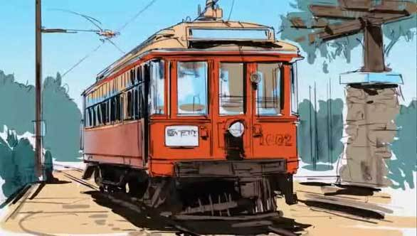 Replicas of the Pacific Electric Red Car Trolleys will ply Buena Vista Street at Disney California Adventure.