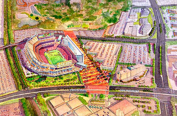 Cedar Fair, parent company of California's Great America, has signed an agreement allowing construction of the San Francisco 49ers new stadium in the amusement park's overflow parking lot.