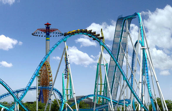 The new Gatekeeper winged coaster at Cedar Point will feature several airtime camelback hills.