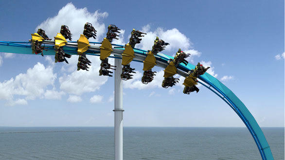 The Gatekeeper winged coaster at Cedar Point will rotate upside down before plummeting into a dive drop at speeds topping 65 mph.