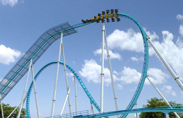 After climbing a 170-foot-tall lift hill, the Gatekeeper winged coaster at Cedar Point will perform the highest inversion of any coaster in the world.