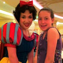 Snow White poses with my 10-year-old daughter, Hannah, in the Royal Palace restaurant aboard the Disney Dream cruise ship.
