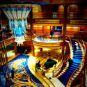 The atrium of the Disney Dream cruise ship.