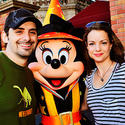 Country musician Brad Paisley hangs out with a witchy Minnie Mouse during Halloween at the Magic Kingdom.