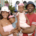 Comedian Chris Rock visits Disney's Hollywood Studios with his family.