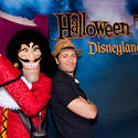 """Glee"" star Matthew Morrison shares a sinister grin with Captain Hook at Disneyland."