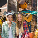 Former Disney star Lindsay Lohan and gal-pal Samantha Ronson celebrate Halloween at Disneyland.