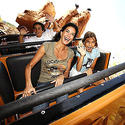 """Desperate Housewives"" star Teri Hatcher on Big Thunder Mountain Railroad at Disneyland."