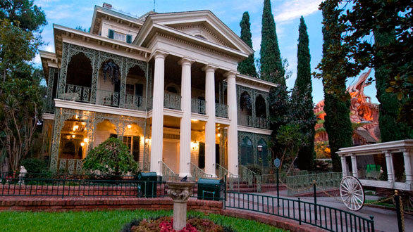 The original Haunted Mansion at Disneyland, pictured here, served as the model for a replica home in Atlanta, now for sale.