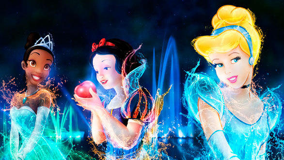 The new Disney Dreams nighttime spectacular at Disneyland Paris will feature several Disney princesses, including Tiana, Snow White and Cinderella.