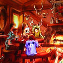 Gaston Tavern planned for the Fantasyland makeover at the Magic Kingdom in 2012.