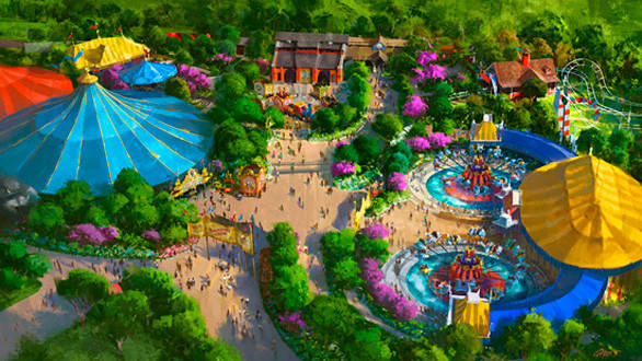 The Storybook Circus area will be the first section to reopen in the Fantasyland expansion at the Magic Kingdom.