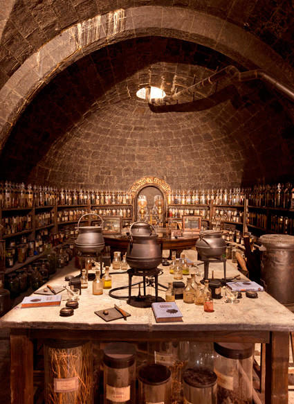 Professor Snape's potions classroom at the Making of Harry Potter tour at Warner Bros.' studios in England.