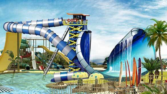 Turkish-based Polin plans to install the first Surf Safari water slide at the Cowabunga Bay water park in Las Vegas. Set to debut in 2013, Surf Safari will feature a parabolic-shaped bowl with a waterfall cascading from the lip of a curling wave.