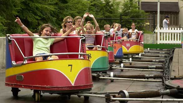 After nearly a century, the 1918 Whip at Kennywood still whips riders around an elliptical track to the shrieks and shrills of hysterical laughter.