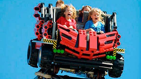Similar wild mouse coasters built by Germany's Mack Rides can be found at Legoland theme parks around the world, including the Technic coasters at the Legoland locations in California and Florida.