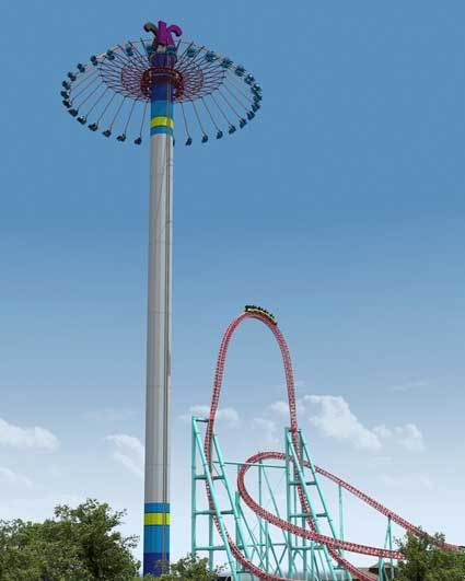 WindSeeker will dwarf the 205-foot-tall Xcelerator coaster at Knott's Berry Farm.