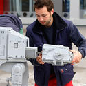 "Lego model makers build an AT-AT walker for the new ""Star Wars"" area at Legoland California."