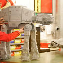 "An AT-AT walker gets the finishing touches for the new ""Star Wars"" area at Legoland California."