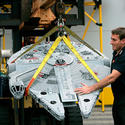 "The Millennium Falcon is on the move, heading to the new ""Star Wars"" area at Legoland California."