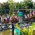 Legoland Florida will graft the dinosaur-centric Coastersaurus theme onto Cypress Gardens' former Triple Hurricane wooden coaster.