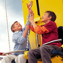 The Imagination Zone at Legoland Florida will include Kid Power Towers, a human-powered free-fall ride that builds up your biceps.